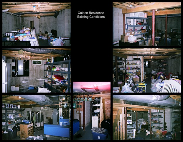 Colden Residence - Basement Renovation  Existing Conditions Prior to New Design