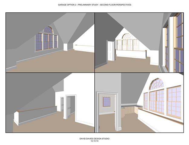 Garage Option 2.3 - 2nd Floor Interior Perspectives