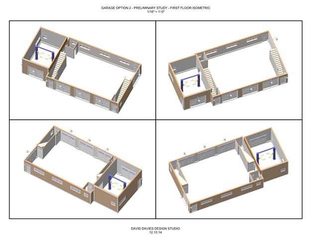 Garage Option 2.1 - First Floor Isometrics