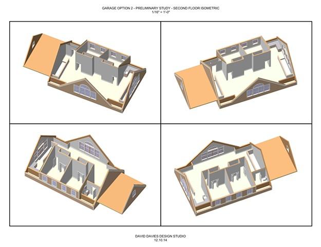 Garage Option 2.2 - 2nd Floor Isometrics