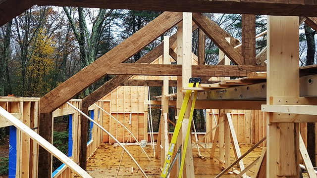 Trusses Looking East