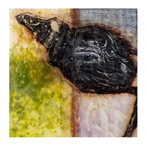 Soup- Encaustic- Carrie Ann Plank