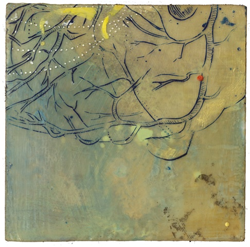 Flow enaustic- Carrie Ann Plank