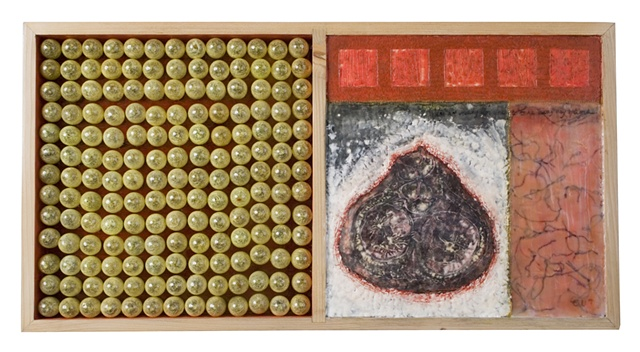 encaustic & mixed media box- Carrie Ann Plank