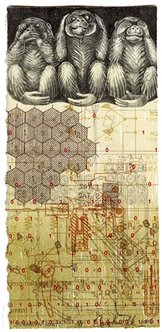 Saturation point etching/ lithograph- Carrie Ann Plank