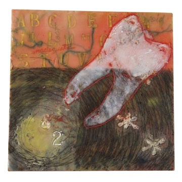 slumber- encaustic on panel- Carrie Ann Plank
