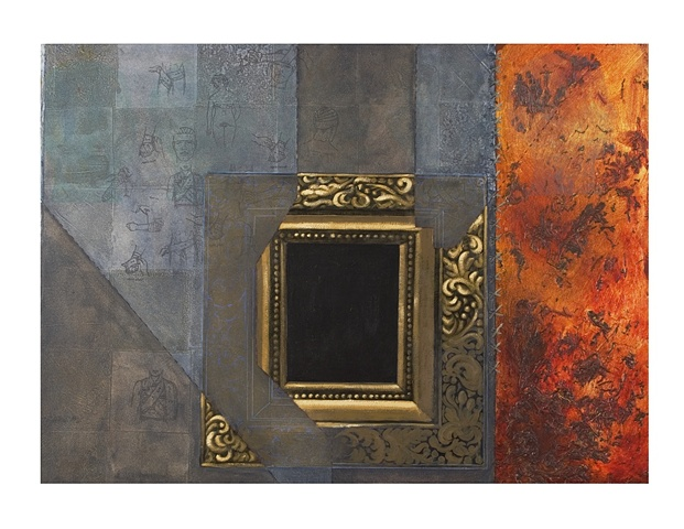 Framed- mixed media- Carrie Ann Plank