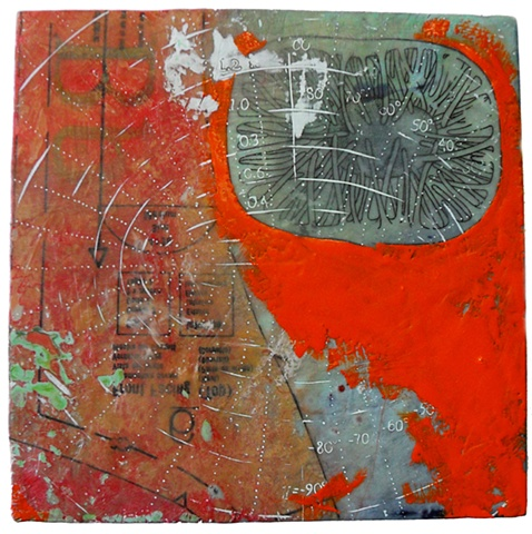 Be- encaustic on panel-Carrie Ann Plank