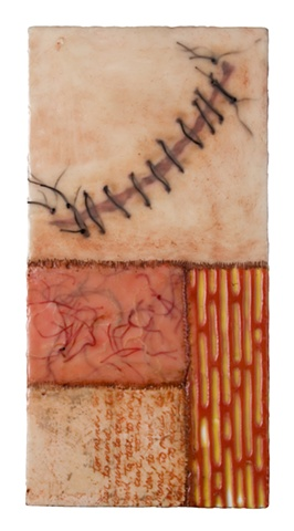 Stitch encaustic- Carrie Ann Plank