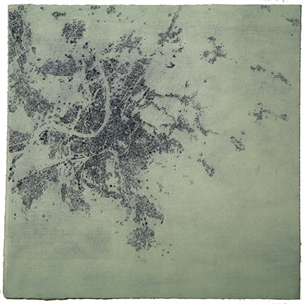 """Above and Below: Monoprint Series #8"""