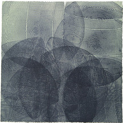 """Above and Below: Monoprint Series #4"""