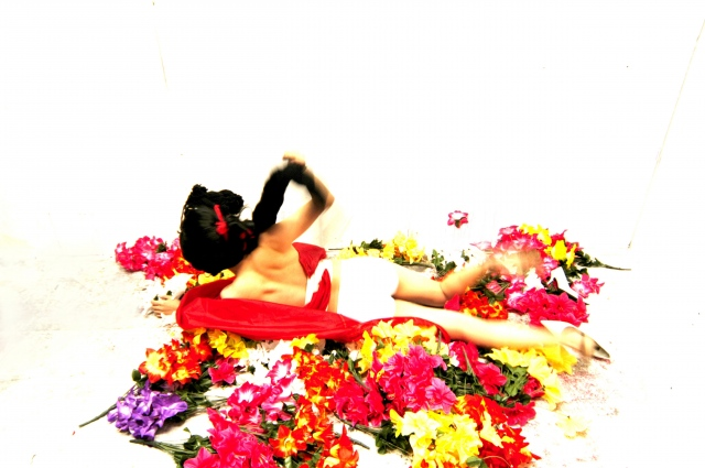 Red Skirt Flower Women
