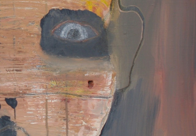 """Title: Son Of Salem (detail image A) Medium: Acrylic And Color Pencil On Canvas  Dimensions: 30"""" x 30""""  Year: 2011"""