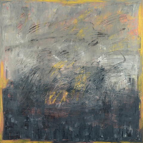 """Title: Winter Whirlwind  Medium: Oil, Oil Stick And Graphite On Canvas  Size: 48"""" x 48""""  Year: 2007"""