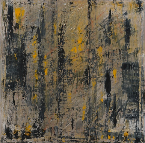 """Title: Birch Morning  Medium: Oil, Oil Stick And Graphite On Canvas  Size: 36"""" x 36""""  Year: 2008"""