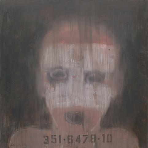 """Title: Obedient Boy 2   Medium: Acrylic On Canvas  Dimensions: 54"""" x 54""""  Year: 2010"""