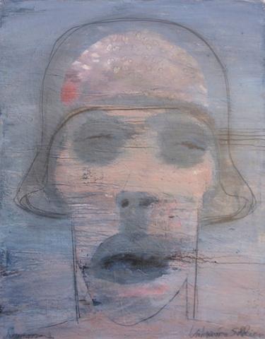 "Title: Dog Soldier  Medium: Acrylic On Canvas  Dimensions: 60"" x 48""  Year: 2011"