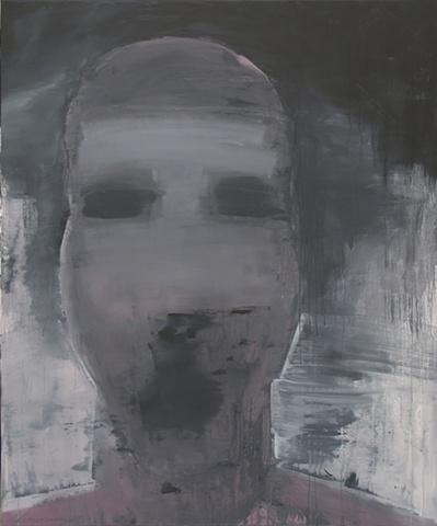 "Title: Bomb-Blast Bystander   Medium: Acrylic On Canvas  Dimensions: 72"" x 60""  Year: 2011"