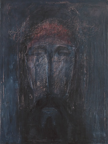 """Title: Grave Image  Medium: Oil, Graphite And Oil Stick On Canvas  Size: 48"""" x 36""""  Year: 2007"""