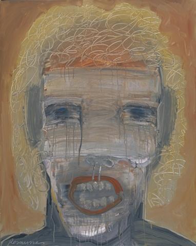 "Title: Gigolo Gigante   Medium: Acrylic On Canvas  Dimensions: 60"" x 48""  Year: 2010"