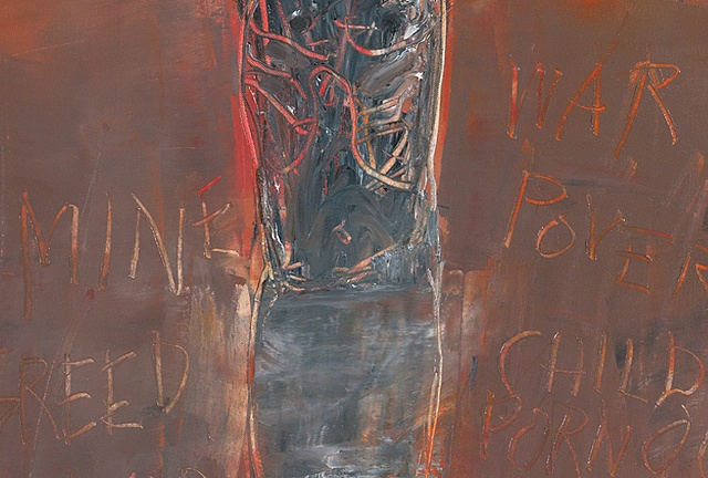 """Title: Eli, Eli, Lama Sabachtany (detail image B) Medium: Oil, Oil Stick And Graphite On Canvas  Dimensions: 48"""" x 30""""  Year: 2007"""