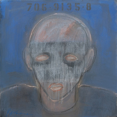 """Title: Obedient Boy 1   Medium: Acrylic, Graphite And Color Pencil  On Canvas  Dimensions: 30"""" x 30""""  Year: 2010"""