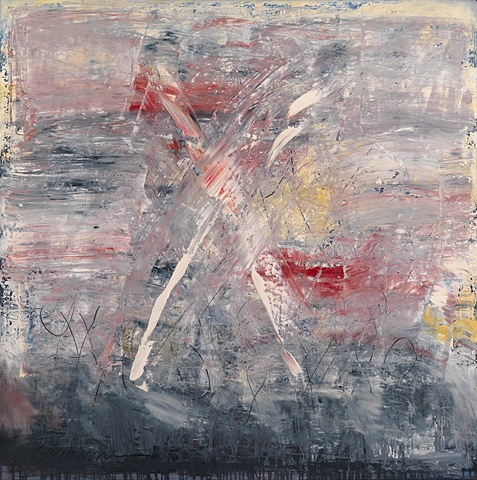"Title: X-1  Medium: Oil On Canvas  Size: 48"" x 48""  Year: 2008"