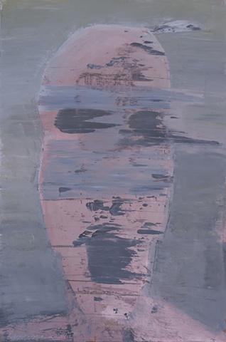 "Title: Bomb Blast Bystander 3  Medium: Acrylic On Canvas  Dimensions: 72"" x 48""  Year: 2011"