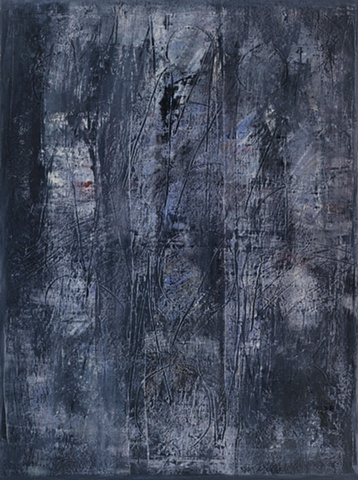 "Title: Midnight  Medium: Oil, Oil Stick And Graphite On Canvas  Size: 48"" x 36""  Year: 2008"