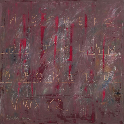 """Title: School Of Hard Knocks 1  Medium: Oil And Oil Stick On Canvas  Size: 48"""" x 48""""  Year: 2008"""