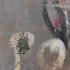 """Title: Preso Politico (detail image A) Medium: Acrylic And Spray Paint On Canvas  Dimensions: 36"""" x 36""""  Year: 2009"""