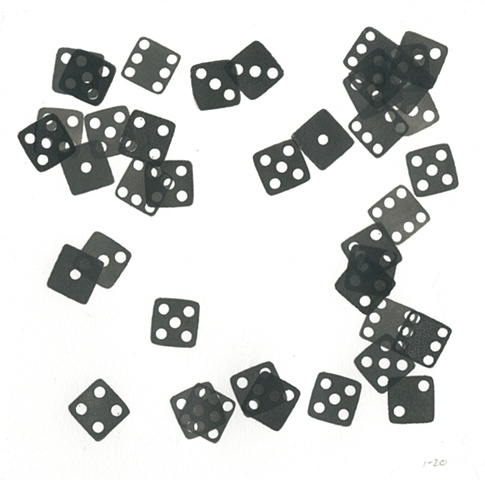 the first twenty rolls of the dice