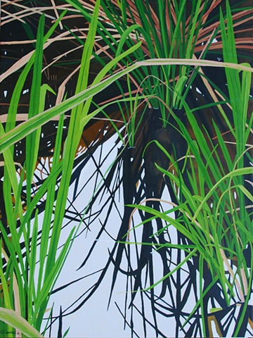 Lake Alice Grasses IV painting by Cindy Capehart