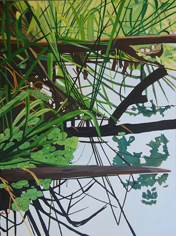 Lake Alice Grasses 8 painting by Cindy Capehart