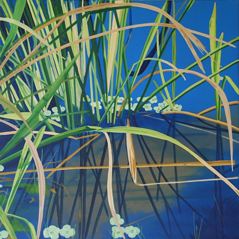 Lake Alice Grasses VII painting by Cindy Capehart