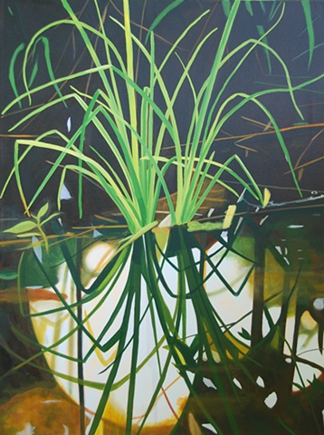 Lake Alice Grasses V painting by Cindy Capehart