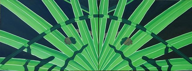 saw palmetto, twin palms,