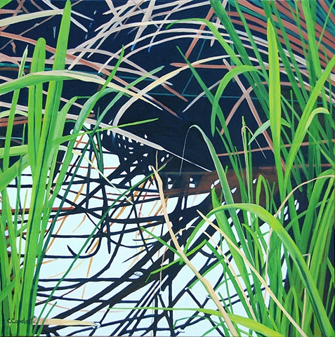 Lake Alice Grasses III painting by Cindy Capehart
