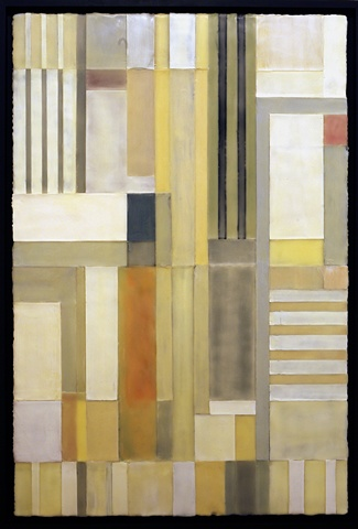 Lexicon II, encaustic on panel, 52 x 36 in., 2009-10