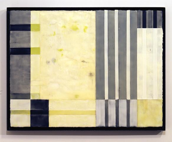 Variation XI, encaustic on panel, 26.5 x 34.5