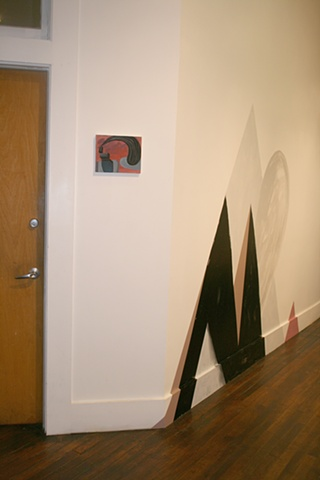 """Amity II, 2012 (installation view) Mis-mixed or returned vinyl house paint on wall dimensions variable, approx. 82 x 104"""""""