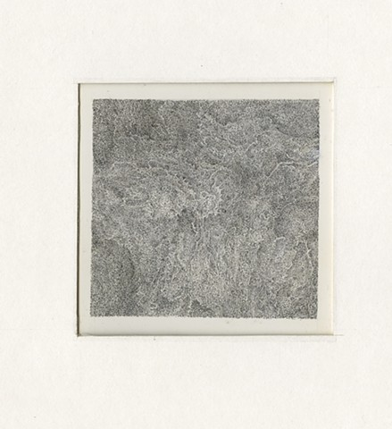 "Richard Iammarino, Untitled, 2011 croquill pen on paper 5 x 5"", 16.5 x 16"" framed"