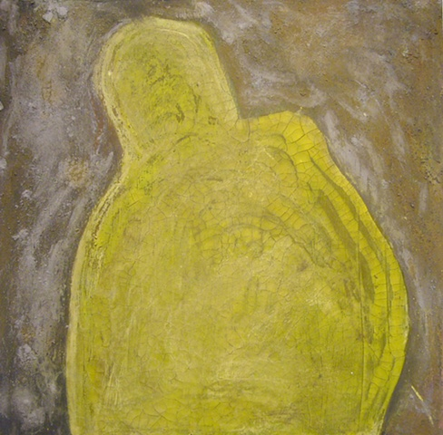 """Invisible, 2011 oil and tempera on canvas, 18x18"""""""