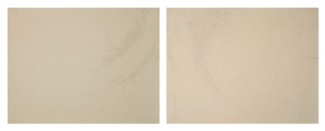 Joshua Cardoso  (To Be Titled)  2014 graphite on laid-textured paper 19.75 x 52.25 inches