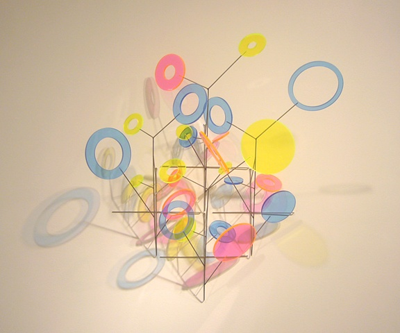 "Warren Seelig, Colored Light/Shadow Field, 2010 stainless steel and plexiglass, 26x25x24"" edition of ten"