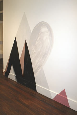 """Amity II, 2012 Mis-mixed or returned vinyl house paint on wall dimensions variable, approx. 82 x 104"""""""