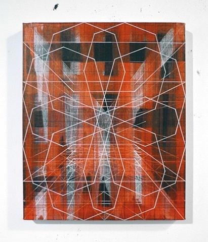 "Mind Go, Mind Gone  2009, acrylic on canvas  20"" x 16"""