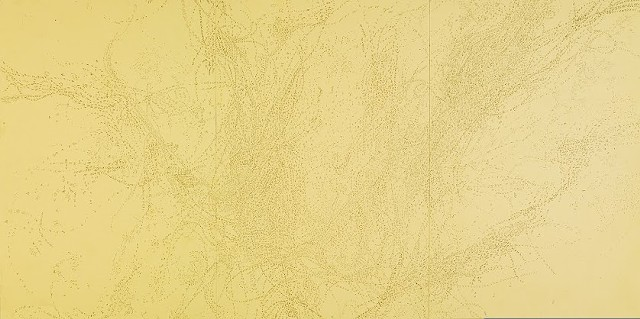 Sciz-Amber Anchor (Study For Grand Female Sea Cipher) 2005 graphite on paper  12.75 x 25.5 inches