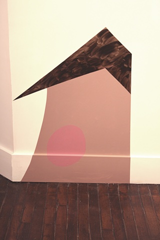 """Untitled, 2012 Mis-mixed or returned vinyl house paint on wall dimensions variable, approx.  39 x 28"""""""