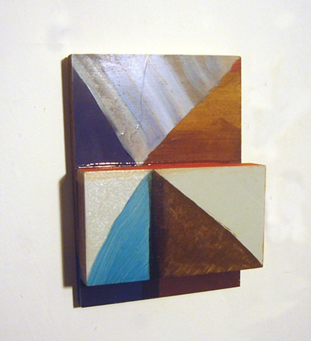 Kate Parnell, Untitled, 2011  oil, varnish, and acrylic on wood structure, 7x6x2""